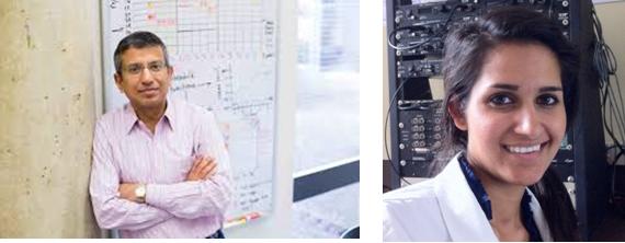 Da esquerda para a direita: Sumitrajit Dhar e Uzma Wilson
