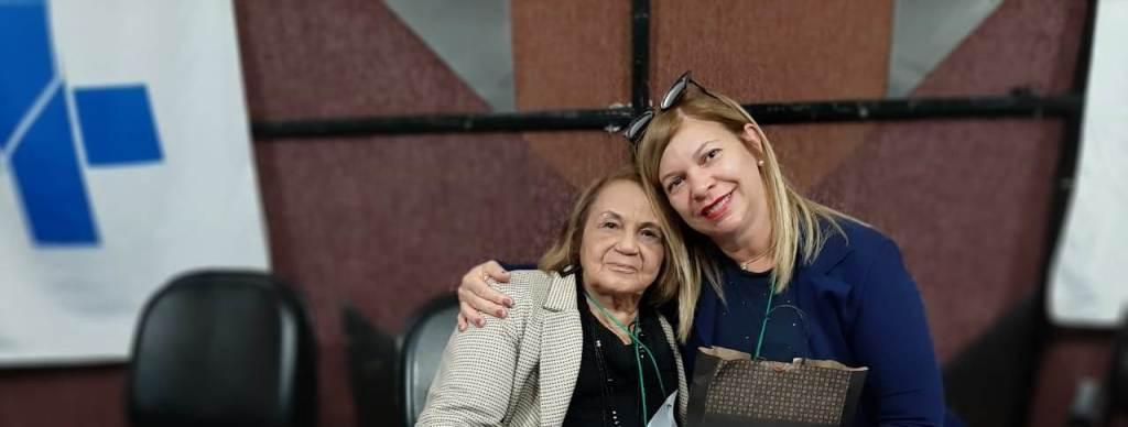 Conselheira Nadja Farias e a presidente do CES/RJ, Zaira da Costa