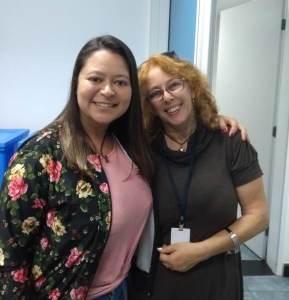Gleici Fonseca, primeira profissional a usar o novo sistema para atendimento, foi recebida pela conselheira Alexandra Bezerra